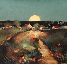 Harvest Moon ~ Scottish artist Lesley McLaren