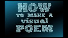 Explore examples of poems that are designed to be seen through the works of American poet Douglas Kearney, American artist Carrie Mae Weems, and Japanese surrealist Kansuke Yamamoto. Discover ideas for creating your own visual poems inspired by these artists.