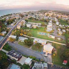 Vista aérea de la Iglesia Metodista del pueblo, Hatillo Puerto Rico