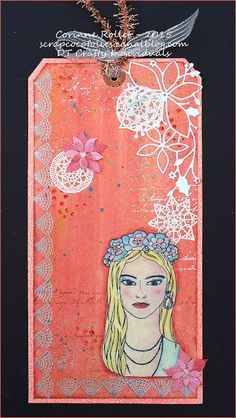 Crafty Individuals Blog: A COCO MOMENT OR TWO..... with Gio's doilies and lady from CI-418