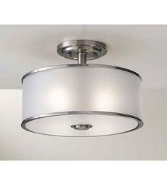 Feiss Casual Luxury 2 Light Semi Flush Mount in Brushed Steel SF251BS #murrayfeiss