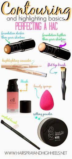 How to Contour - Makeup Tutorial - make_up_pintennium All Things Beauty, Beauty Make Up, Hair Beauty, Make Up Tricks, How To Make, Beauty Secrets, Beauty Hacks, Beauty Care, Make Up Inspiration