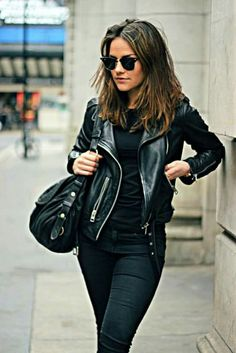 How to wear a leather jacket.