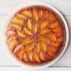 Peach-Bourbon Upside-Down Cake    #summerdesserts #desserts #peaches