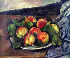 bofransson:  Paul Cézanne - Still Life with a Plate of Peaches, 1892