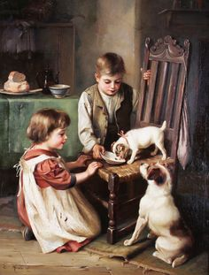 Art auction - Edgar Hunt, oil on canvas. Up for auction on 30th January. You can bid for this painting online using Biddle & Webb's real-time bidding platform available at http://www.biddleandwebb.co.uk/livebidding.cfm or via http://www.the-saleroom.com