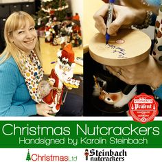 Need a Christmas gift? How about a hand signed Steinbach nutcracker! Photo taken from Karolin Steinbach's visit to our office on Tuesday.    Shop Steinbach nutcrackers at our German site: www.steinbachnutcrackers.com