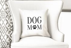 Dog mom throw pillow cover dog lover gift ideas pet | Etsy