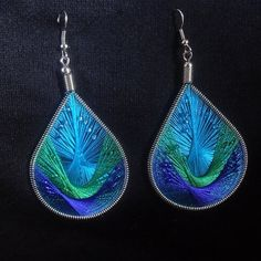 Beautiful peruvian silk thread earrings with or by Dinsmyk7