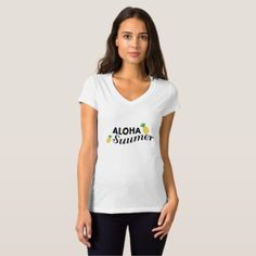 Aloha Summer time Fruit Funny Pineapple T-Shirt - holidays diy custom design cyo holiday family