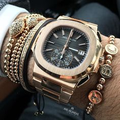 #patekphilippe x #anilarjandas x the new @thebillionairesclub rose gold bracelet Fine Watches, Rolex Watches, Dream Watches, Cool Watches, Stylish Watches, Expensive Watches, Gold Watches Women, Best Watches For Men, Luxury Watches For Men