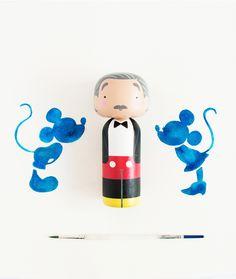 Walt Disney Kokeshi Doll