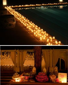 Thinking about filling mason jars with something that glows or lights up to line the walkways, but I need a more inexpensive idea