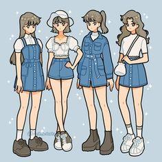 fish sleeves, an art print by fresh_bobatae - INPRNT Aesthetic Drawing, Aesthetic Anime, Aesthetic Art, Aesthetic Clothes, Arte Do Kawaii, Kawaii Art, Chica Anime Manga, Art Anime, Kawaii Drawings