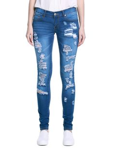 Ladies' Knife-Like Denim Jeans