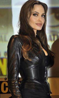 Leather Trench Coat, Leather Jacket, Stunning Women, Beautiful, Black Lingerie, Celebs, Celebrities, Angelina Jolie, Fast Fashion