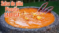 SALSA DE PIÑA Y CHILE DE ARBOL PICOSITA SABROSA - YouTube Authentic Mexican Recipes, Mexican Salsa Recipes, Mexican Dishes, Salsa De Habaneros, Salsa Picante, My Recipes, Vegan Recipes, Tacos And Salsa, Real Mexican Food