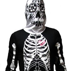 Volcom Skeleton Full Body Zip Up Pajamas. Women's sizes available great Halloween costume for the holiday. Great Halloween Costumes, Wrightsville Beach, Surf City, Surf Shop, Full Zip Hoodie, Hoodies, Sweatshirts, Full Body, Skeleton