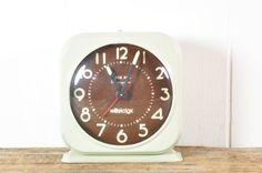 Vintage Westclox Silver Bell Monogram Clock
