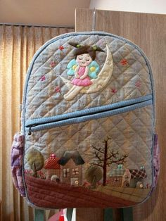 Patchwork Bags, Patchwork Designs, Quilted Bag, Baby Backpack, Back Bag, Fabric Bags, Mini Quilts, Bag Organization, Diy And Crafts