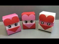 Origami Changing Faces Heart Cube - Print at Home - YouTube