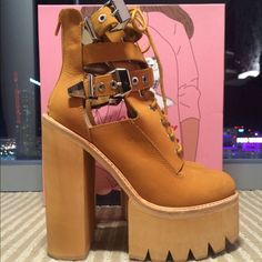 Jeffrey Campbell Abner Boot Abner Platform Boot Size 8. Only worn twice. Jeffrey Campbell Shoes