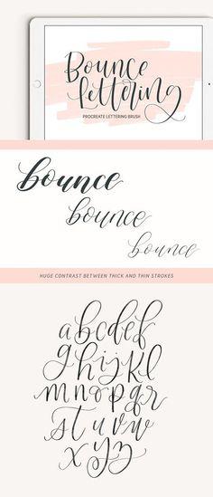 Bounce Lettering Procreate Brush. Photoshop Brushes #JustHandwriting!
