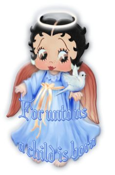 Christmas Toddler Betty Boop angel