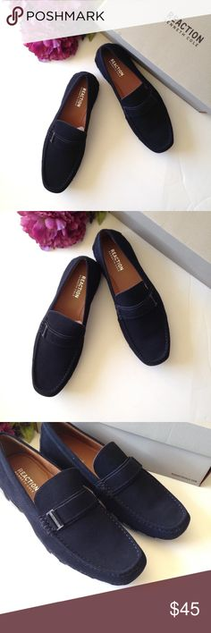 1e57636f487e1 Kenneth Cole Reaction Later Driver Suede Loafers New with box Rennet Cole  Reaction Loafer