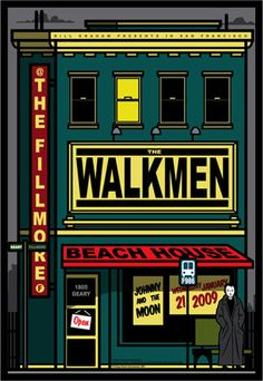 The Walkmen New Fillmore Poster F986