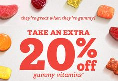 Extra 20% Off Gummy Vitamins at Drugstore - Extra 20% Off