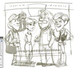 Adventures in Odyssey Fan Art | by Michael W. | Wooton Bassett | Connie Kendall | John Avery Whittaker | Eugene Meltsner