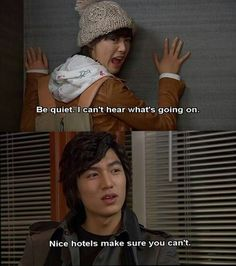 kdrama funny - Boys Over Flowers Korean Drama Funny, Korean Drama Quotes, Korean Drama Movies, Korean Actors, Korean Dramas, Lee Min Ho Boys Over Flowers, Boys Before Flowers, Live Action, Geum Jan Di