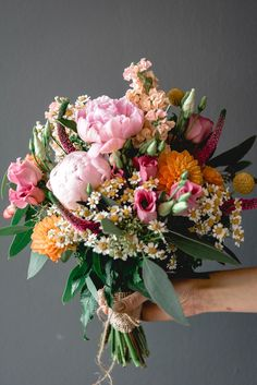 13 ideas and examples for your bridal bouquet Bridal bouquet pink, bridal bouquet colorful, bridal bouquet of peonies, bridal bouquet orange # Brautstrauß - Bridal Bouquet Pink, Bridal Flowers, Wedding Bouquets, Wedding Hijab, Wedding Dresses, Wedding Shoes, Orange Rosen, Flower Aesthetic, Arte Floral