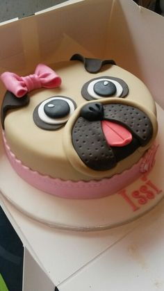 Pug cake More Fancy Cakes, Cute Cakes, Pretty Cakes, Cake Cookies, Cupcake Cakes, 3d Cakes, Pug Cake, Animal Cakes, Novelty Cakes