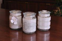 personalized candle jars