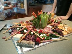 Italian Themed Party | Crudites table at an Italian -themed party | Parties