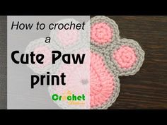 Diy Crafts - This video crochet tutorial will help you learn how to crochet a cute paw print.For written instructions and photos please visit: & Crochet Coaster Pattern, Crochet Motif, Cute Crochet, Dog Crochet, Crochet Stitches Patterns, Crochet Flower Patterns, Crochet Flowers, Youtube Crochet Patterns, Crochet Crafts