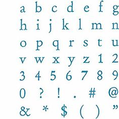 Alphabet Rubber Stamp Kit - Lower Case, $24.95 Great font, perfect for all our signs / notes throughout the party