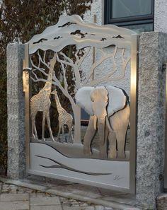 Finde moderner Garten Designs: Edelstahl Tordesign. Entdecke die schönsten Bilder zur Inspiration für die Gestaltung deines Traumhauses.