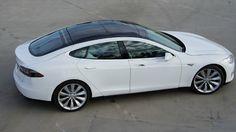 White Tesla Model S