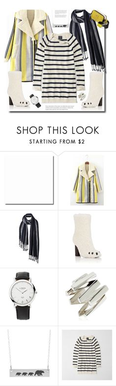 """Cozily~"" by dianefantasy ❤ liked on Polyvore featuring Fat Face, Anya Hindmarch, Links of London, Moutton colleT, Abercrombie & Fitch, Marc Jacobs, stripesonstripes and PatternChallenge"