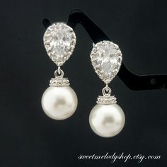 Wedding Jewelry Bridesmaid Gift Bridal Jewelry by SweetMelodyShop