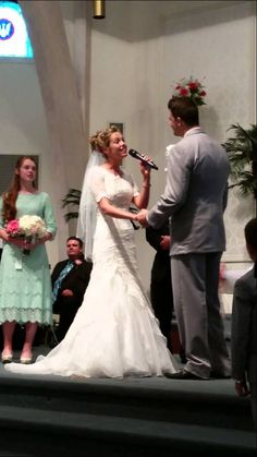 """When God Made You"" Phil Jr.  Sharlenae Collingsworth sing to each other at their wedding. So beautiful! @sharlenae"