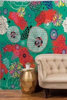 Juliana Curi Underground Flower Tapestry | DENY Designs Home Accessories