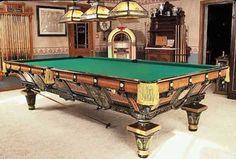 1878 Victorian Antique Brunswick & Balke Pool/Billiard Table ...