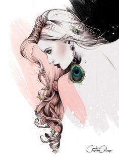 arte da ilustração do desenho por Cristina Alonso Valencia, Espanha