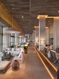 Modern Lobby and Reception in Miami Beach, FL by Meyer Davis