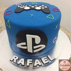 Candy Birthday Cakes, Birthday Cake Girls, Birthday Cupcakes, Video Game Cakes, Cake Videos, Pretty Cakes, Cute Cakes, Bolo Do Barcelona, Ps4 Cake