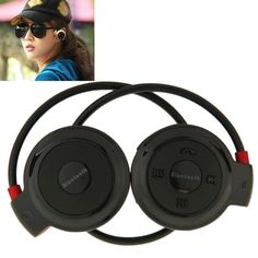 [$10.50] Mini-503 Sport Bluetooth Stereo Headphone Headset Music Earphones for Mobile Phone / PC, Support TF Card(Black)